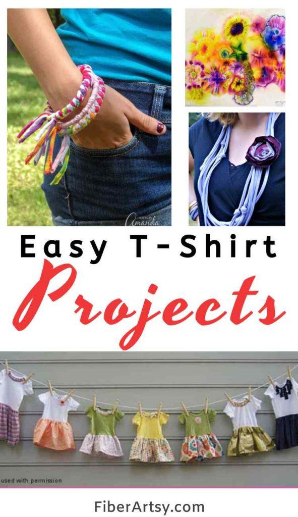 Easy DIY T Shirts Crafts Ideas