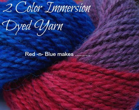 Multi Color Dyed Yarn Tutorial, Fiberartsy.com