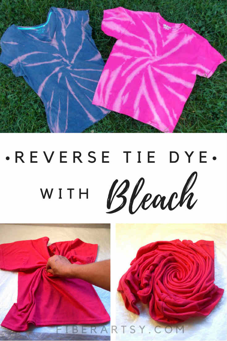 Reverse Tie Dyeing with Bleach.