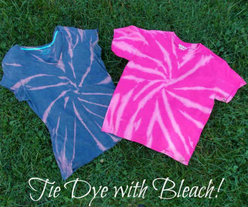 T Shirts that have been bleached dyed