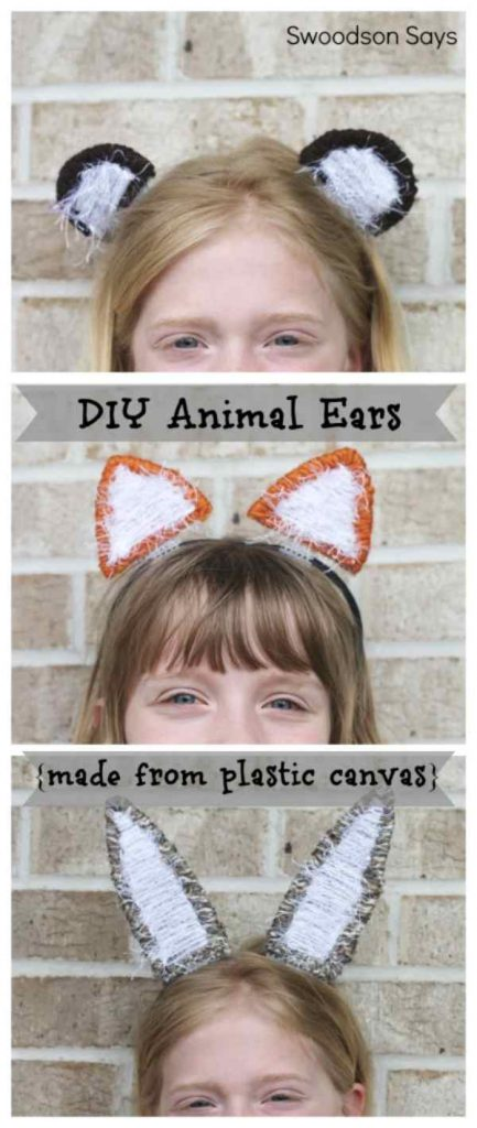 Scrap Yarn Projects. Scrap Yarn DIY Animal Ears