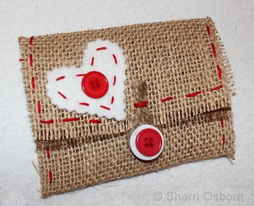 Burlap Fabric Envelope Craft Project