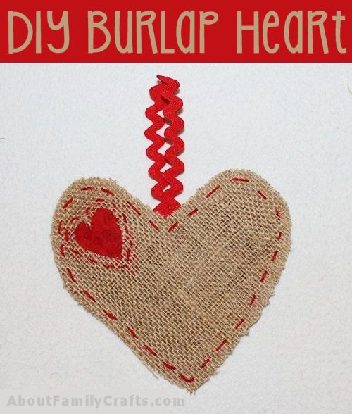 Heart Shaped Burlap Hanger