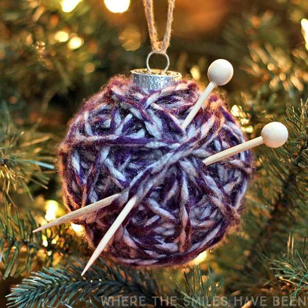 Yarn Ball Christmas Ornament