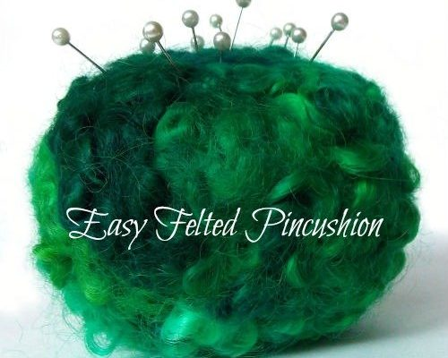 Easy Felted Pincushion How to, Fiberartsy.com