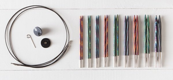 Adjustable knitting needle gift set for knitters and crocheters