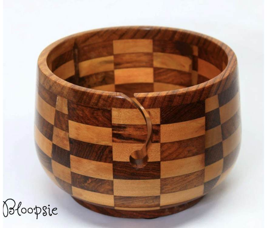Wooden Yarn Bowl Gift