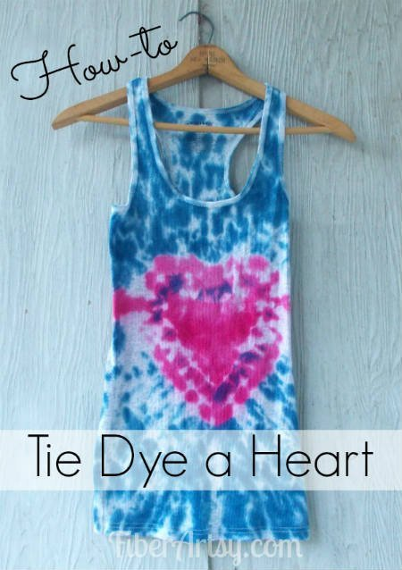 How to Tie Dye a Heart, Fiberartsy.com