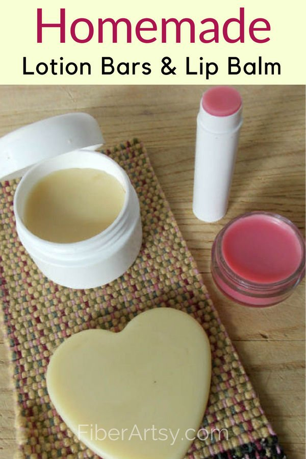 Supplies needed to make Homemade Lip Balm and Lotion Bars