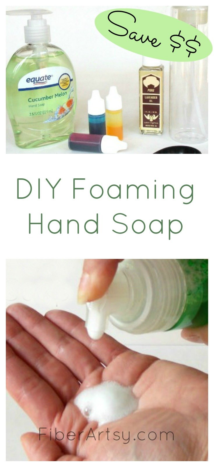 DIY Foaming Soap Recipe, a FiberArtsy.com tutorial