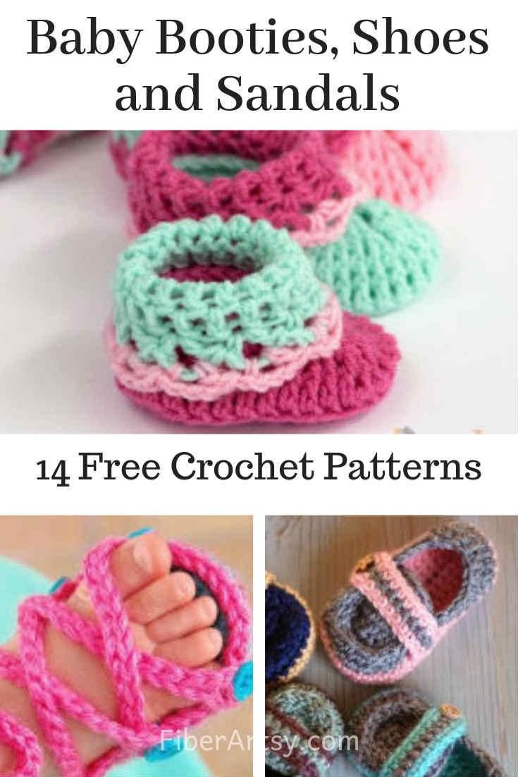 Baby Booties Shoes and Sandals Free Crochet Patterns