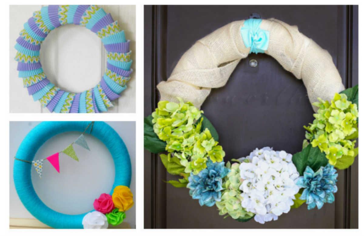 Diy Summer Wreath Ideas By Fiberartsy Com