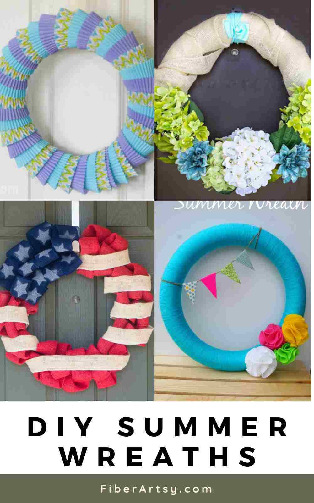 DIY and Handmade Summer Wreath Ideas