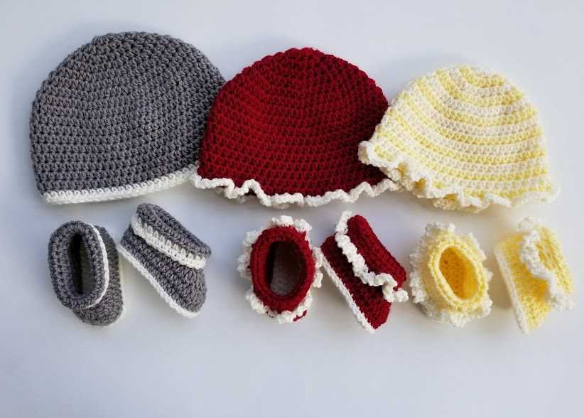 Baby boots and hats crochet patterns