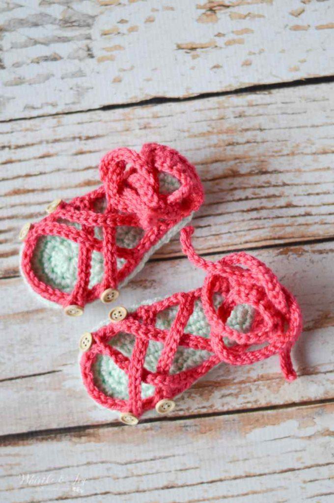 Crochet Gladiator Sandals for Babies