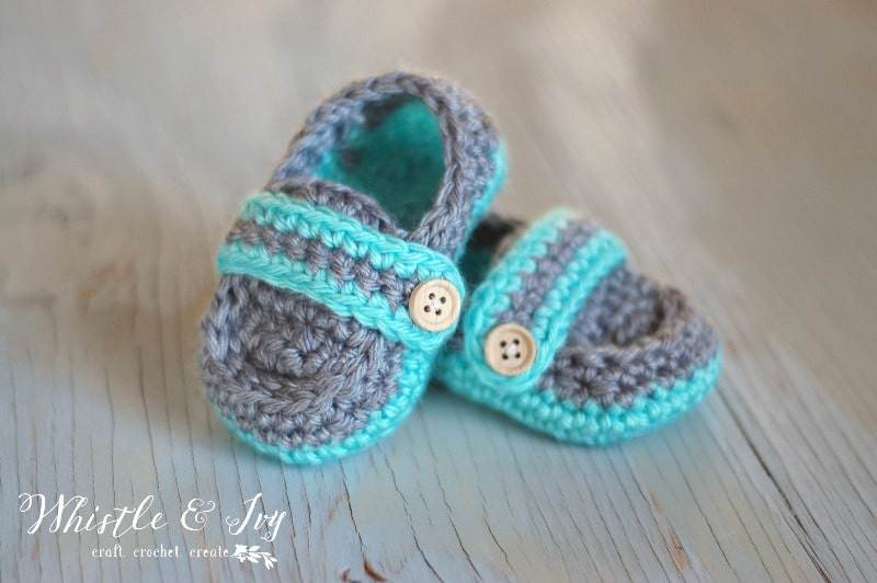 Monk Strap baby shoe crochet pattern