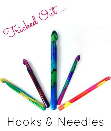 Decorated Knitting Needles and Crochet Hooks, Fiberartsy.com