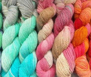 Variegated of Multi Color Hand Dyed Yarn