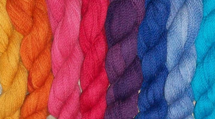 Hand Dyed Yarn in Solid Colors