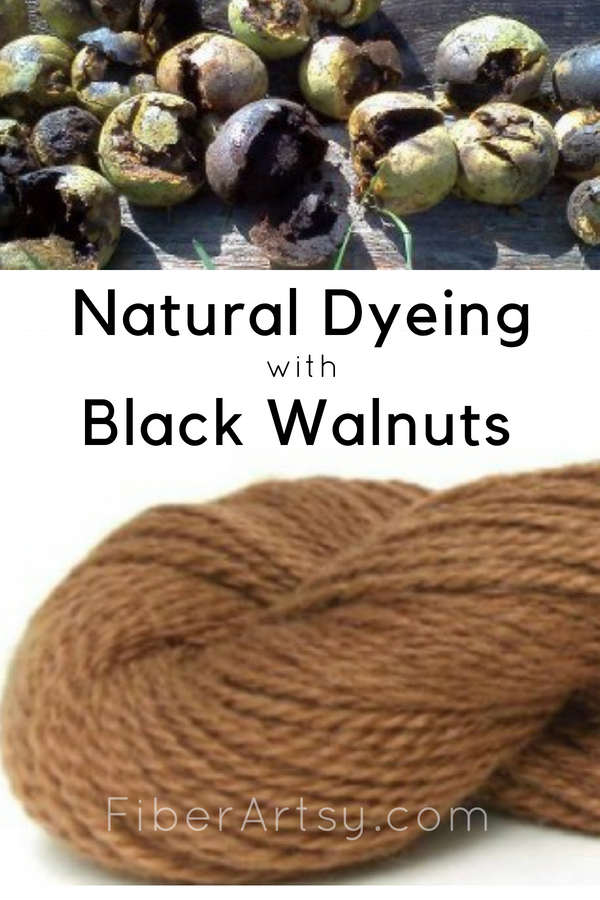 Dyeing Yarn with Black Walnuts. A natural dyeing technique by FiberArtsy.com