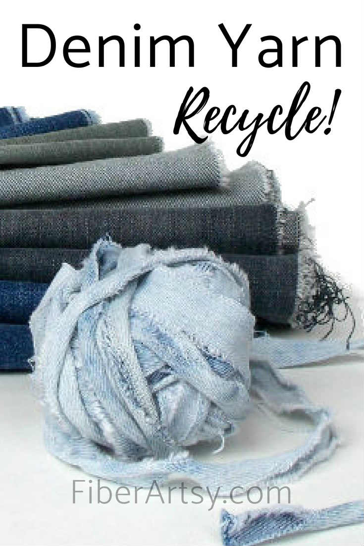 Upcycle your old blue jeans into denim yarn for crochet projects