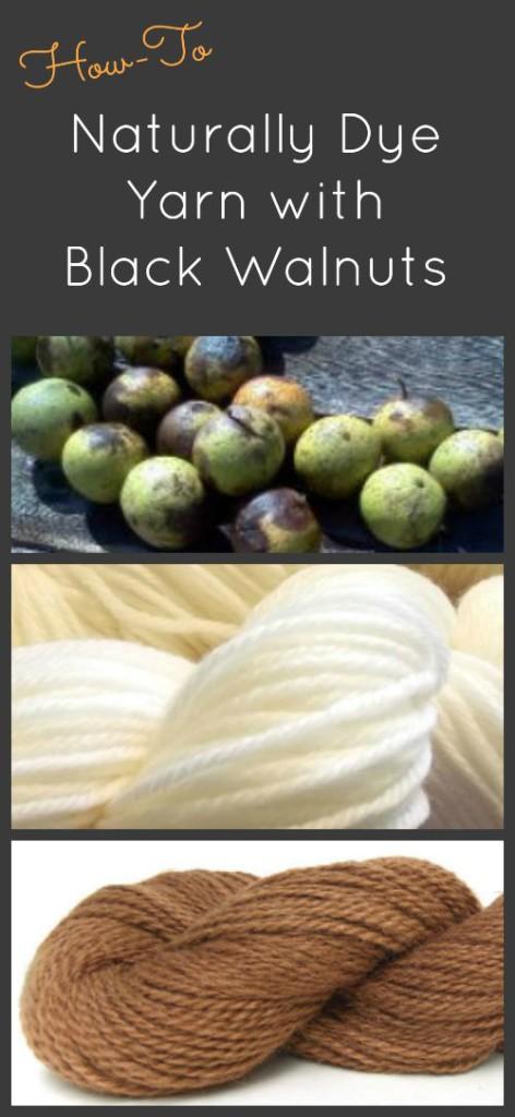 How to dye yarn with black walnuts