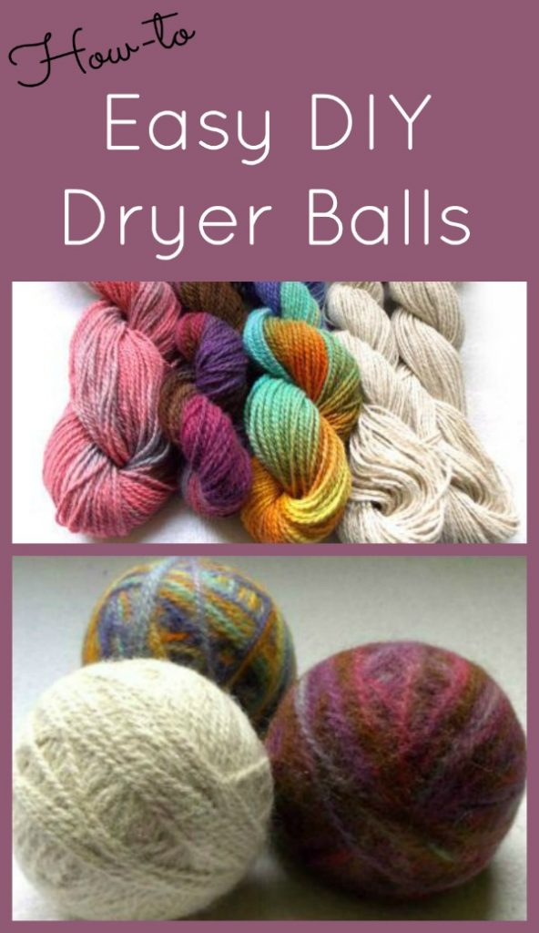 How to make Homemade Dryer Balls with Wool Yarn or Roving