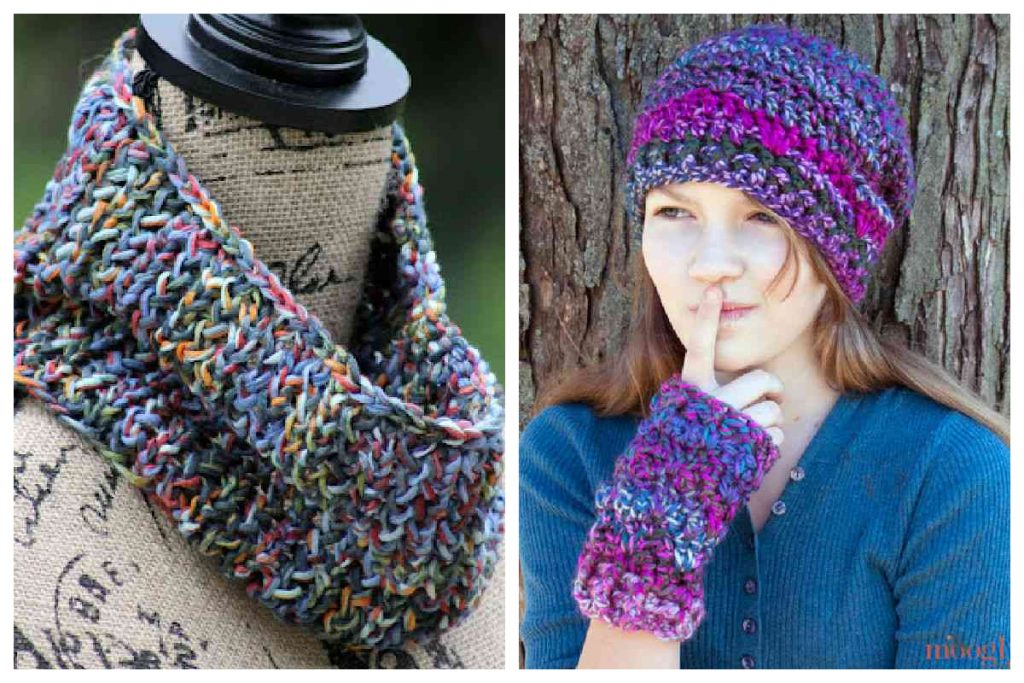 knit and crochet patterns for one skein of yarn