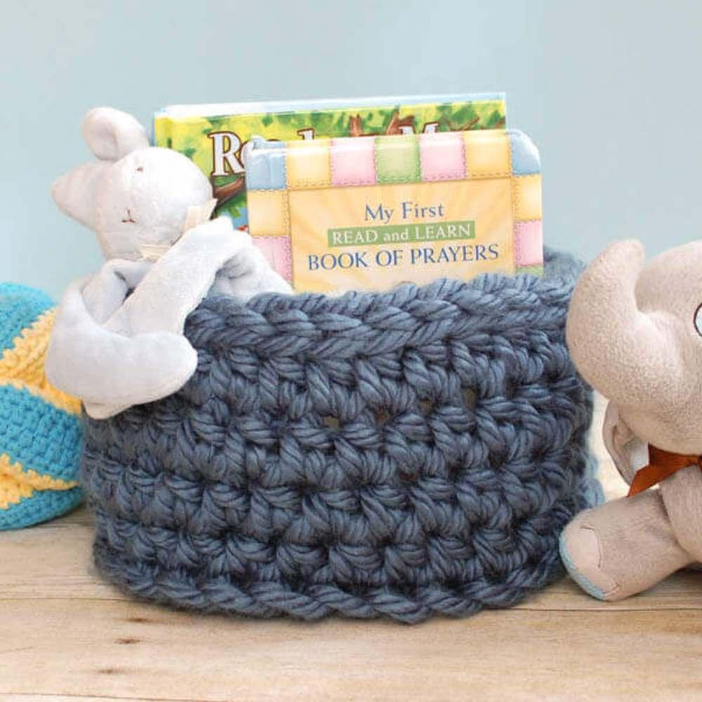 one skein of yarn basket pattern