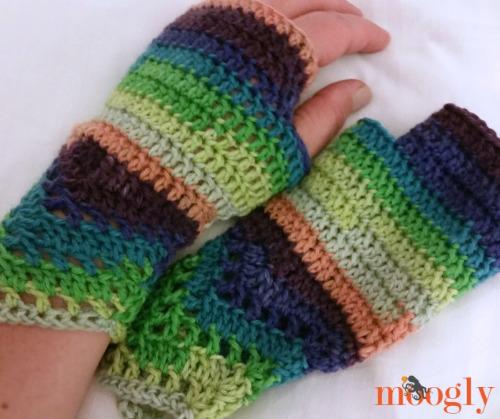 Fingerless Mitts Pattern for Crochet