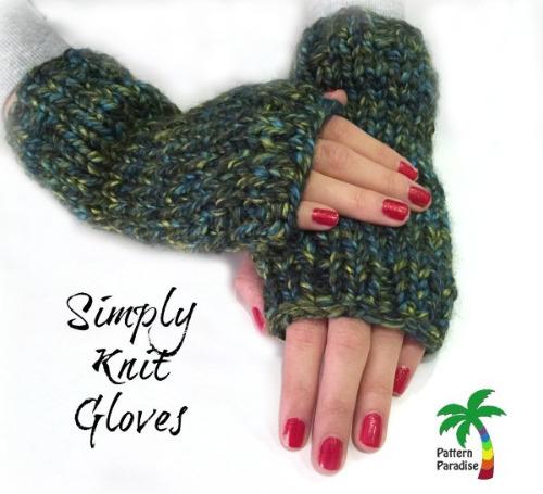 Simple Knit Glove Patterns Knit Crochet