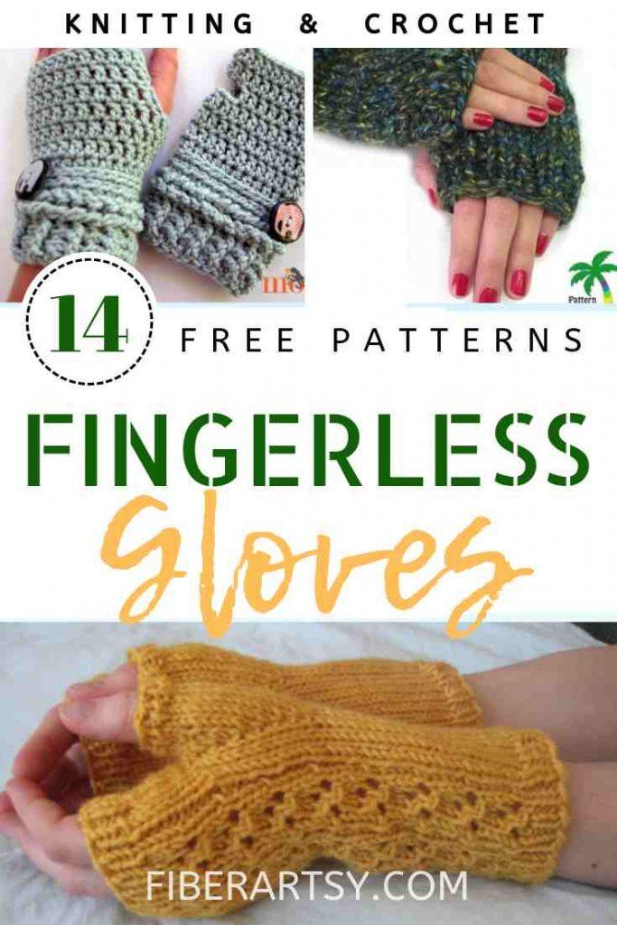 Free Patterns for Fingerless Gloves for Knitting and Crochet