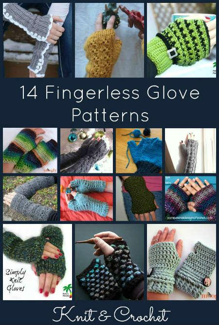 14 Free Crochet Fingerless Gloves