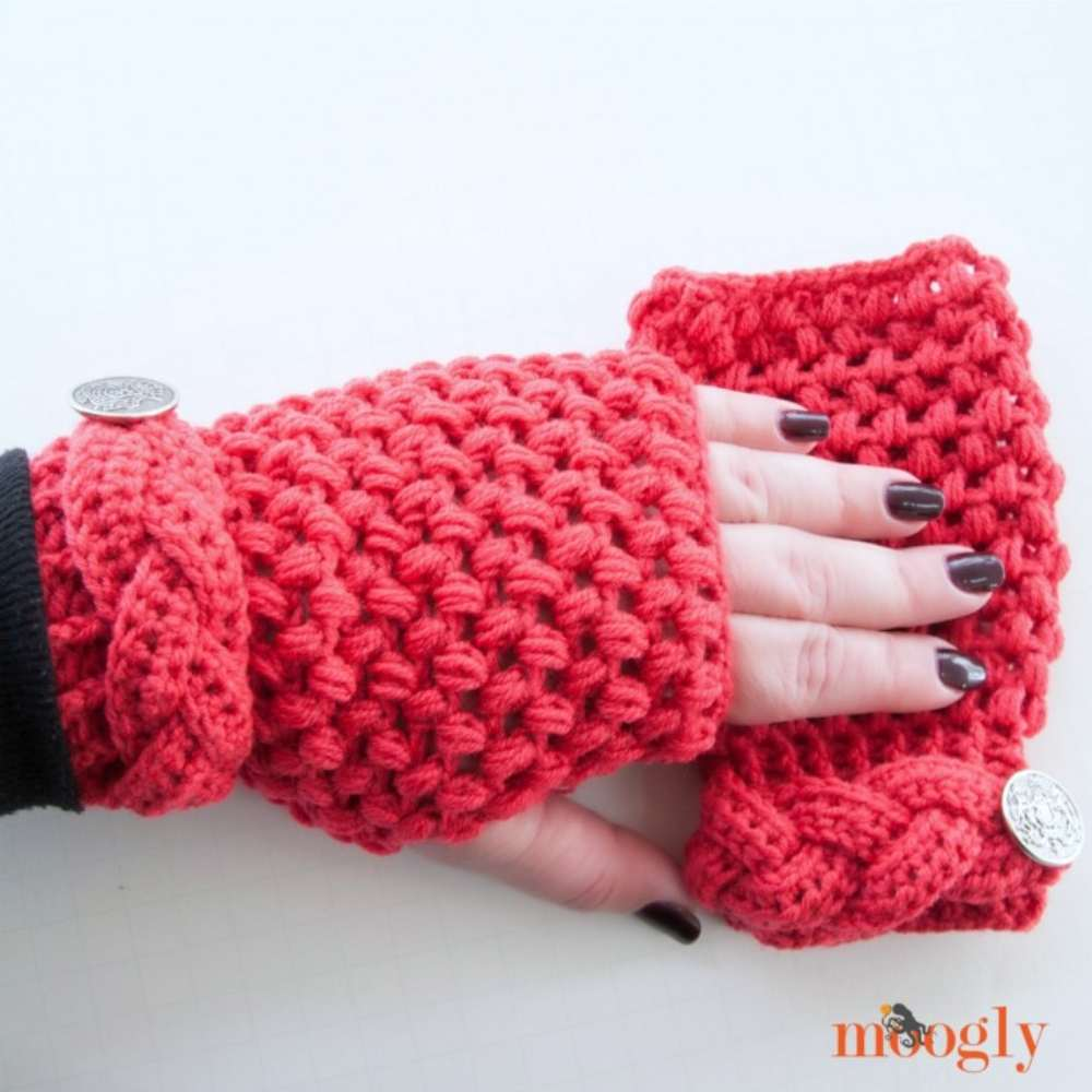 Madly In Love Fingerless Mitts