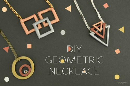 DIY Geometric Necklace Jewelry Gift Idea