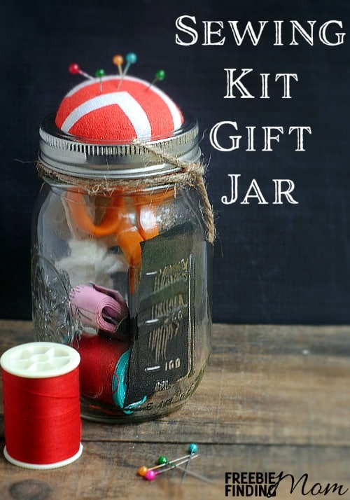 DIY Sewing Kit in a Mason Jar Gift Idea