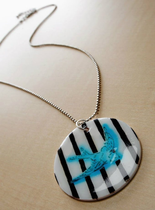DIY Shrinky Dink Necklace Pendant