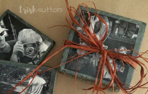 How to make Ceramic Tile Photo Coasters