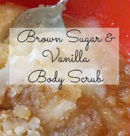 Brown Sugar and Vanilla Body Scrub, Natural Ingredients