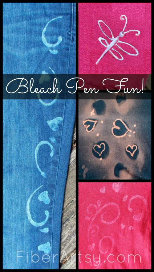 Decorate Fabric with Bleach, Fiberartsy.com tutorial