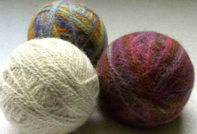 Finished Felted Homemade Dryer Balls
