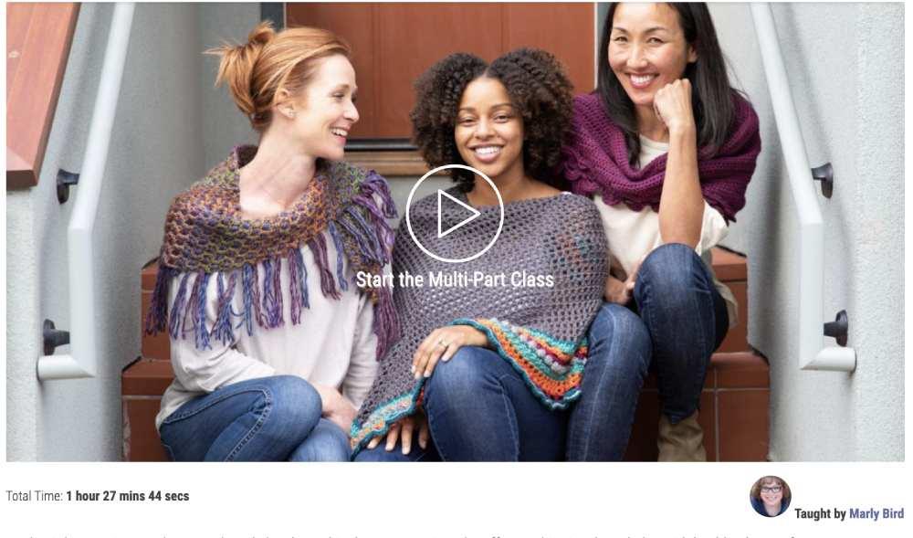 Online class for crochet shawls
