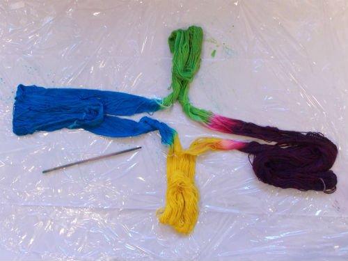 Hand Dyed Self Striping Sock Yarn