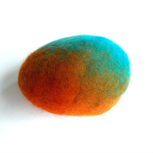 Easter Egg Decorated with Felted Sheep Wool