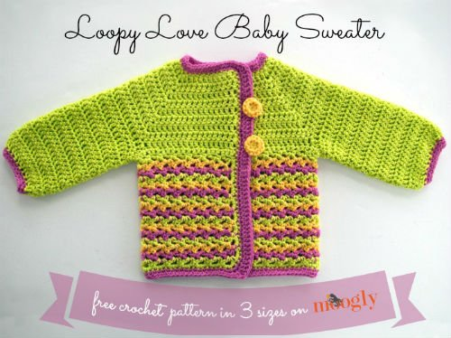 Baby Sweater Pattern for Crochet by Moogly
