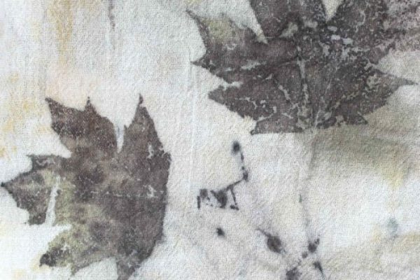 Maple Leaves Eco Printed on Cotton Flour Sack Towels