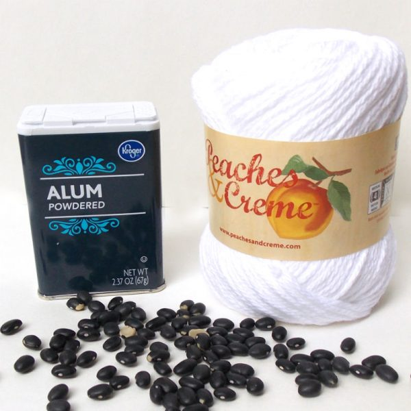 How to dye yarn with Black Beans