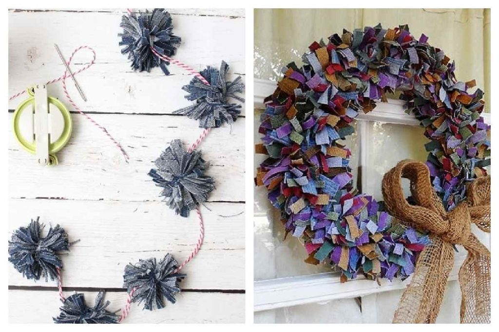 Craft ideas using old blue jeans fabric