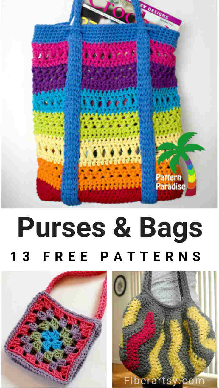 13 Free Crochet Patterns for Bags and Purses