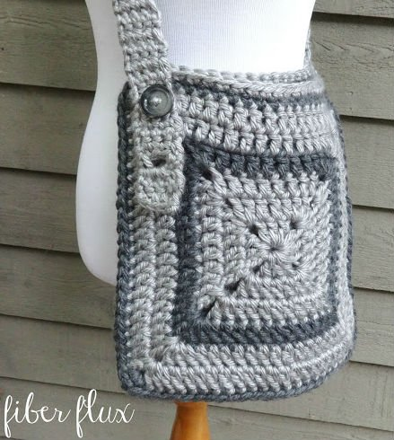 Crocheted Messenger Bag